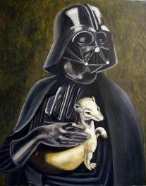 Darth Vader de l'harmine / 92 x 73 cm