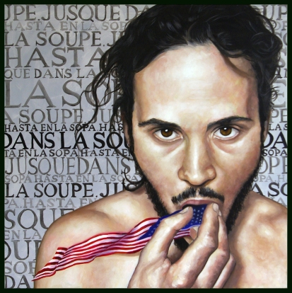 Les Etats Unis / 2016 / Huile et acrylique sur toile / 100 x 100 cm