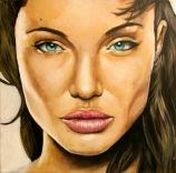 Angelina / 40 x 40 cm / huile sur toile