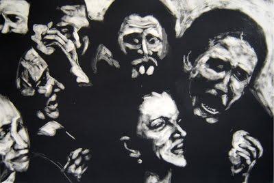 Las sufrioras / 2006/ Encre de gravure sur papier super alfa