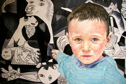 La couleur des yeux/huile et acrylique sur toile/100 x 150 cm