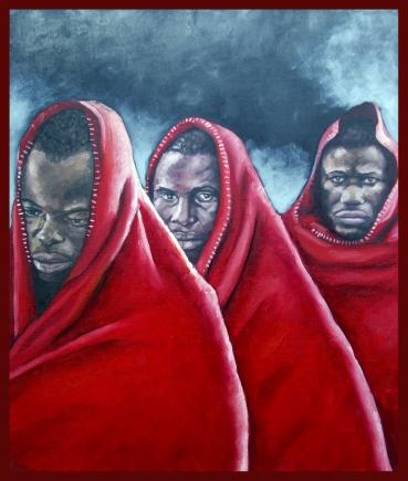 Les trois grâces/huile sur toile/55 x 46 cm