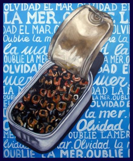 Oublie la mer/huile sur toile/55 x 46 cm